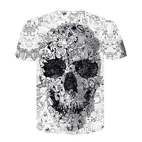 Camiseta de verano Punk Rock Gun manga corta 3D Impreso T-Shirt