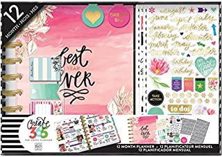 Me & My Big Ideas The Happy Planner 12 Month Box Kit - Best Year Ever Planner Kit - 1 Twelve Month Undated Classic Planner - 4 Sheets of Stickers - 2 Magnetic Bookmarks - 4 Sticky Note Pads