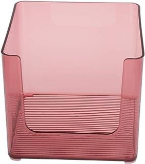 Generic プラスチックデスクトップジュエリー収納仕上げボックスオーガナイザー化粧品ディスプレイ - 赤