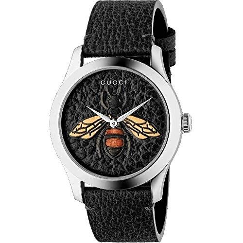 Gucci YA1264067 Schwarz Stahl 316 L Frau Uhr