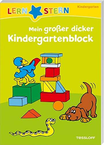 LERNSTERN Mein großer dicker Kindergarten-Block: Spielen und Lernen ab 3 Jahren