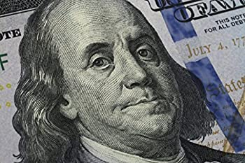 Closeup Benjamin Franklin One Hundred Dollar Bill Photo Photograph Cool Wall Decor Art Print Poster 18x12