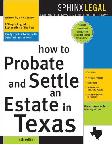 Image OfHow To Probate And Settle An Estate In Texas