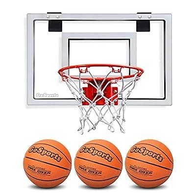 GoSports Basketball Door Hoop with 3 Premium Basketballs & Pump - PRO Size
