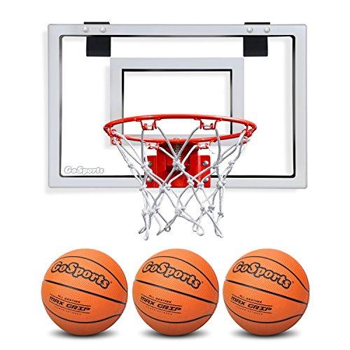 GoSports Basketball Door Hoop with 3 Premium Basketballs & Pump - PRO...