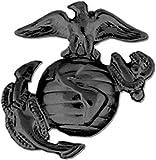 HMC U.S. Marine Corps Eagle, Globe and Anchor Lapel Pin or Hat Pin (Left, Black Finish), 1'