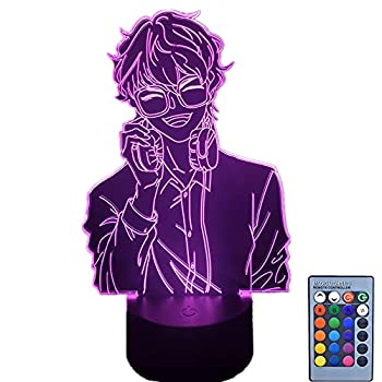Mystic Messenger Figures 707 Seven Luciel 3D Lamp Touch/Remote Led RGB Night Lights Neon Gifts for Friends Kids Bed Room Colorful Decor Table Lamp