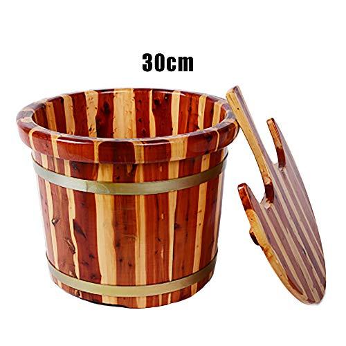 Tränkendes Fußbadfaß, rotes Kernzedernholz, das Füße Fuß waschender hölzerner Tränkkübel, Fußbadfaßfußbadfaßhaushalt erhöht. SBJB-B