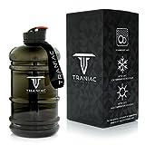TRANIAC - Train Like A Maniac Tritan Water Bottle, 2.2L, Set of 1, Shiny Transparent Black insulated water bottle 24 oz Jan, 2021