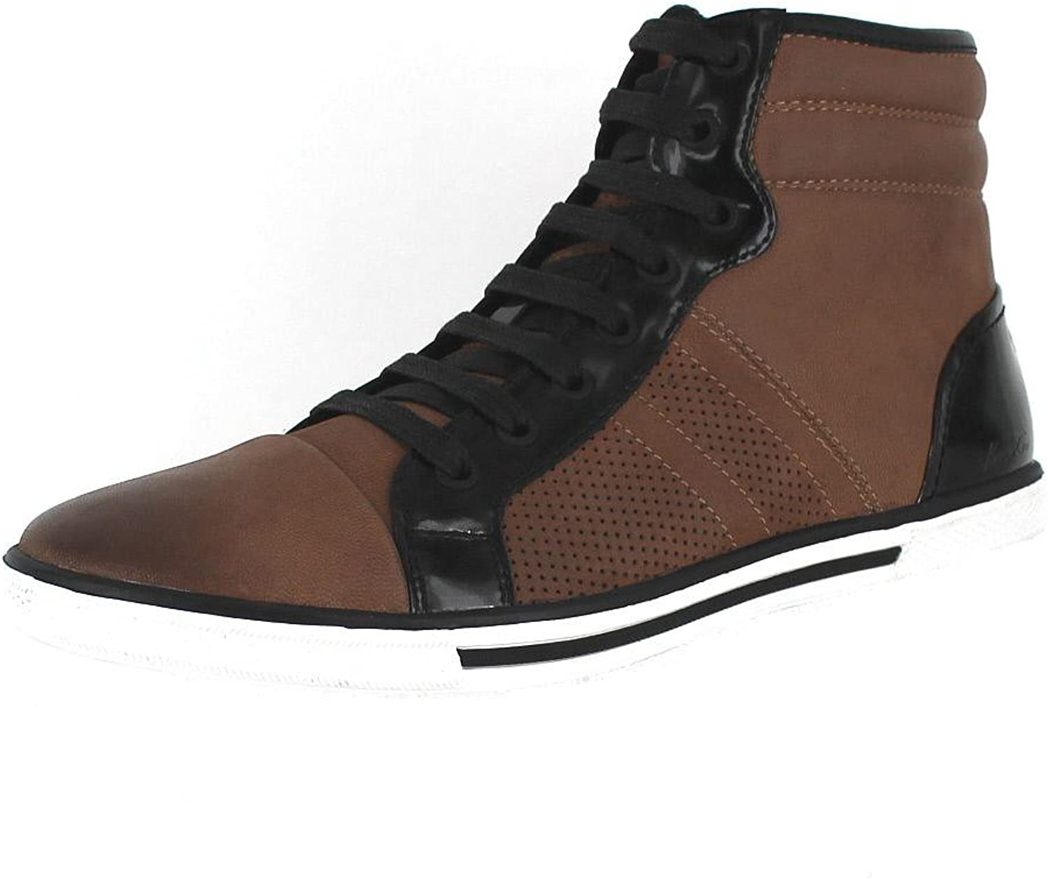 Kenneth Cole New York Base Down Low Cognac Mens Hi-Top Sneakers Size 8.5M