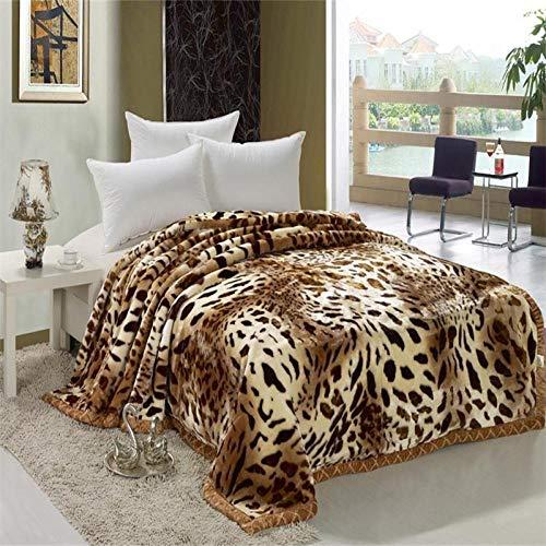 XOCKYE Manta de Leopardo Manta de Invierno Cama Cálida a Resistente a Las Arrugas No Pierde Color para Adultos y Niños -Leopardo_200X230cm