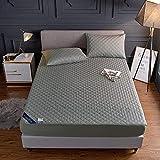 BOLO Funda de colchón acolchada impermeable con sábana...