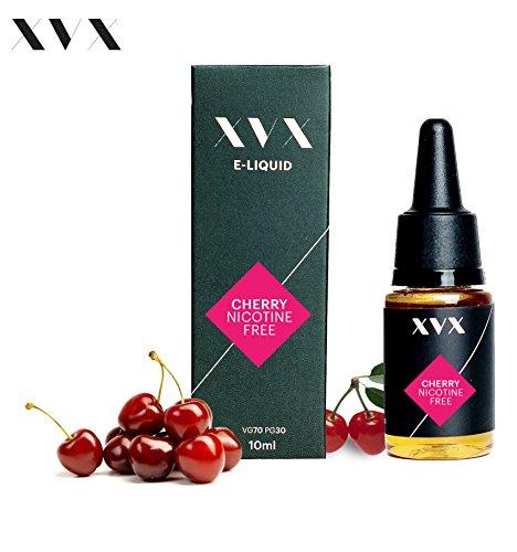 XVX E-Liquid Kirsche Geschmack Elektronisches Liquid Für E-Zigarette Elektronische Shisha Liquid 10ml Flasche Nadelspitze Präzise Befllung Nikotinfrei