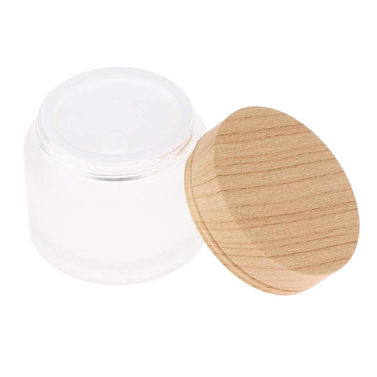 T TOOYFUL 2ピース 化粧ポット空 化粧品瓶 ローションクリーム コンテナマットクリア - 50g