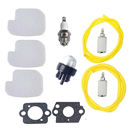 Podoy Chainsaw Parts for Poulan 530095646 530069247 Air Fuel Filter with Fuel Line Spark Plug Gasket Primer Bulb P3314 P3416 P3816 P4018 PP3416 PP3516 PP3816 PP4018 PP4218 PPB3416