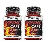 Weider Pack Duo Thermocaps (2 botes de 120) 240 cápsulas. Quemador de grasa potente para adelgarzar
