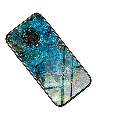 WINMI für Motorola Moto G9 Plus Hülle,Ultra Thin TPU Silikon Grenze Shock Stylisch Schutzhülle,Farbverlauf-Glas Back Cover Handyhülle für Motorola Moto G9 Plus-FC