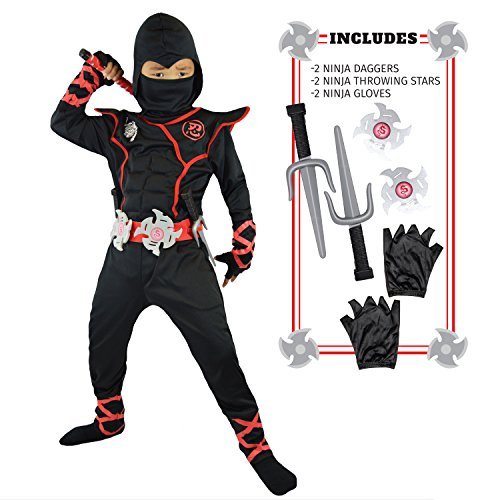 Spooktacular Creations Boys Ninja Deluxe Costume for Kids (Toddler 3-4)
