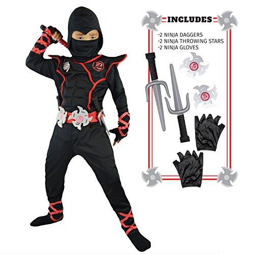 Spooktacular Creations Disfraz de Ninja para Niños (L)