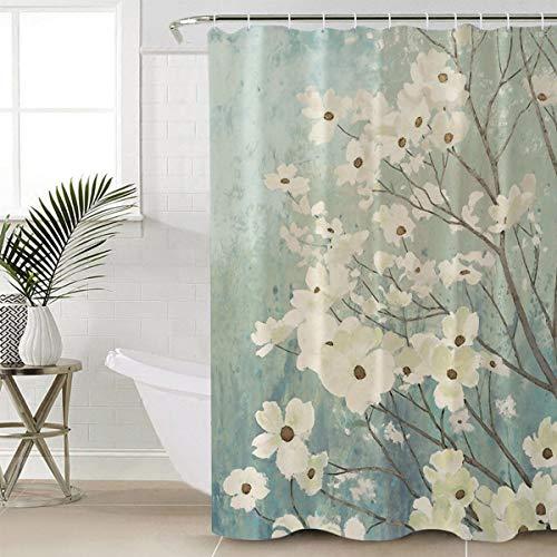 sun-shine Badezimmer Dusche Vorhang Family Rules Educational Schimmel & wasserdicht Stoff Polyester mit Haken, Textil, blume, 72x78IN