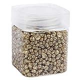 Ideen mit Herz - Pietre glitterate in vetro granulato metallizzato, grana 2 mm fino a 7 mm, 260 g, ideali come decorazione da tavolo o matrimonio, Vetro, gold