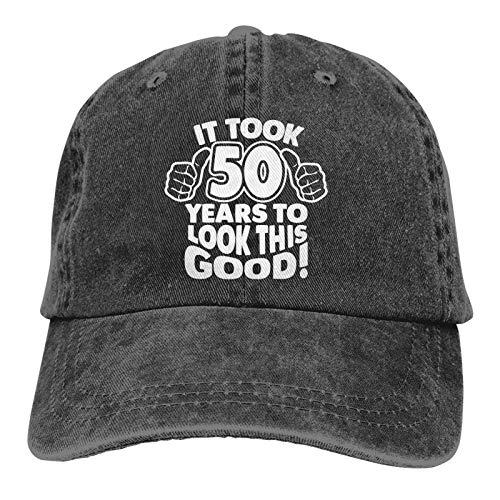Vintage 50th Birthday Gifts Baseball Caps, It Took 50 Years to Look This Good Adjustable Cotton Funny Hats for Women Men