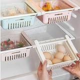 ohcoolstule Kühlschrank Lagerung Box Kleine Kunststoff Küche Organizer Kühlschrank Schublade Organizer Schublade Kühlschrank Rack Kühlschrank Rack Haushalt Lagerung Rack (Weiß)