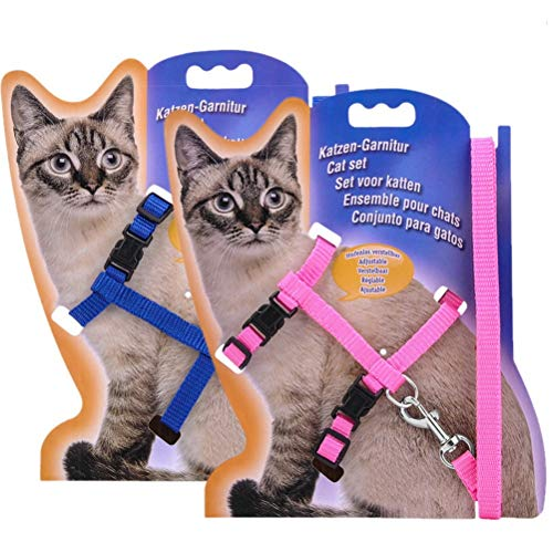 kuou Verstellbare Leine für Katzen, 2 Stück