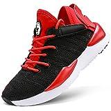 Sneaker Casual da Ragazzi Scarpe Sportive Corsa Ginnastica Fitness Scarpe da Basket(E Rosso,40 EU)