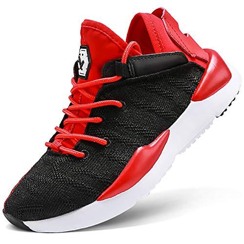 ASHION Kinder Turnschuhe Jungen Sport Schuhe Mädchen Kinderschuhe Sneaker Outdoor Laufschuhe für Unisex-Kinder(N-Rot,28 EU)