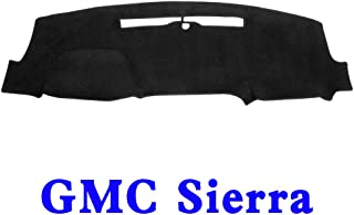 YRCP Dash Covers for GMC Sierra 2014-2017 Front Molded Dashboard Cover Cap, Anti-Skip, Anti-Glare, MR049 (Black)