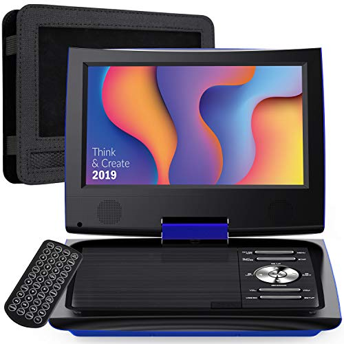 SUNPIN 11' Portable DVD Player for Car and Kids with 9.5 inch HD Swivel Screen, 5 Hour...
