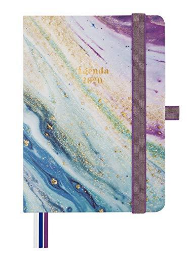 Finocam - Agenda 2020 semana vista apaisada Mínimal Design Iris español, Mediano - M4 - 118x168 mm