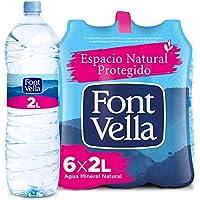 Agua Mineral Natural Font Vella 2L X 6