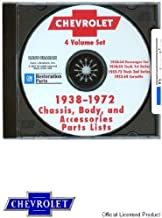 1938-1972 Chevrolet Chassis, Body, and Accessories Parts Lists CD-ROM