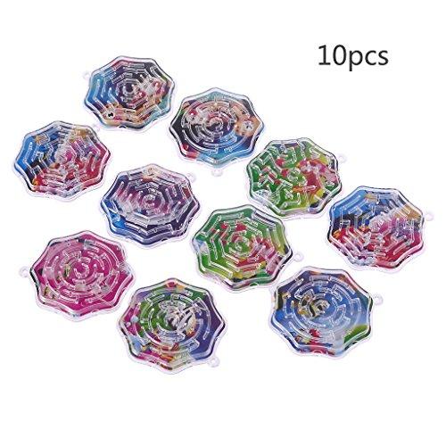 LyGuy 10 Stücke Magie Octagon Puzzle Geschwindigkeit Labyrinth Track Labyrinth Spielzeug Für Kinder Kinder Geschenk Magisches Labyrinth Regalo para Niños