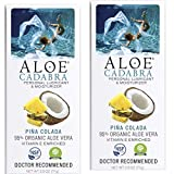 Aloe Cadabra Flavored Personal Lubricant & Moisturizer for Her, Him & Couples, Best Natural Lube Oral Gel Pina Colada, 2.5 oz (Pack of 2)