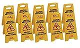 Señal de advertencia de pavimento mojado. Pack 10 unidades. Clim Profesional®. Especial para empresas y grandes superficies