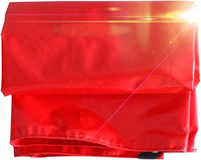 Plane Abdeckplane Wasserdicht Gewebeplane Sonnenschutz Reifest Anti-UV Unterlegplane Wasserdicht Wetterschutzplane Regenfestes Tuch Stiefelplane - Rot