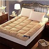 JR%L Supérieure Twin Surmatelas, Qualité Down Alternative Pillow Top Haute Qualité Matelas Japonais Futon Matelas Topper Sleeping Pad-e 150x200x10cm