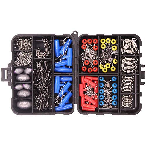OKVGO - Kit de accesorios para aparejos de pesca (pesos + toboganes de hundimiento +...