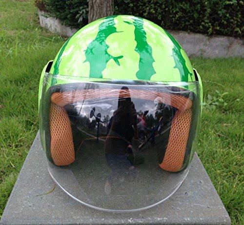 xy Personalidad de Moda Casco de Sandía Motocicleta Casco de Coche Eléctrico Hipster Casco Creativo Lindo Casco Duro Salvaje,UN,Un tamaño