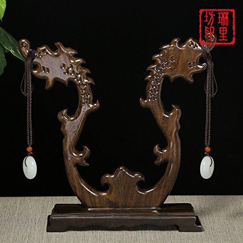 Hlluya Professional Sink Mixer Tap Keuken Kraan De redwood drugs zwart Chi : dubbele tap plafond-mount jade ornamenten Rozenhout