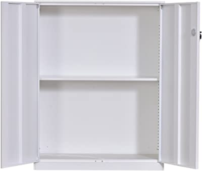 Armario Auxiliar Zapatero Multiusos Blanco Brillo de 2 Puertas ...