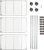 Amazon Basics - Scaffalatura a 3 ripiani, su rotelle, Cromo #4