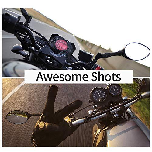 TELESIN Motorradhelm-Halterung vorne Kinnhalterung für GoPro Hero 2018/6/5/4/3, Session, SJCAM, AKASO, Campark, Polaroid, YI Action Kamera Helmhalterung gebogen (Motorradhelmgurt)
