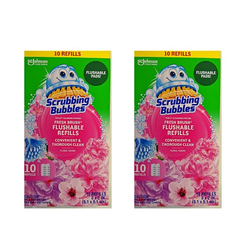 Scrubbing Bubbles Fresh Brush Flushable Refills, Floral Fusion Scent,...