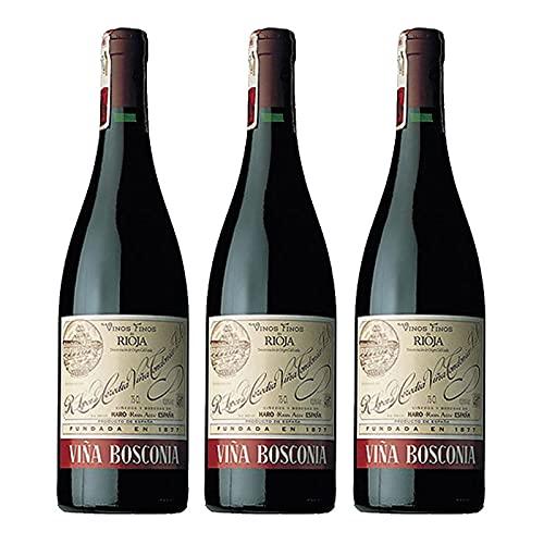 Vino tinto Viña Bosconia Reserva de 75 cl - D.O. La Rioja - Bodegas R.Lopez de Heredia (Pack de 3 botellas)
