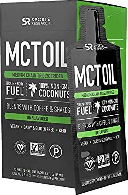 Premium MCT Oil derived only from Coconut Oil - 32oz BPA Free Bottle | The only MCT Oil Certified Paleo Safe and Registered by The Vegan Society. Non-GMO and Gluten Free.