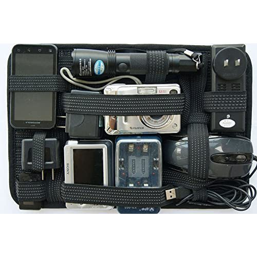 Gadget Organizer By Cladpigeon, Upgraded Grid Case, Manage Your Cable Cord Hub Charger Tech